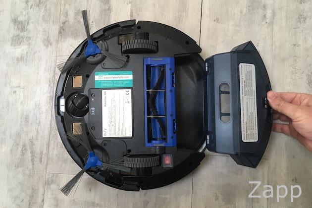 robot aspirateur connecté bac